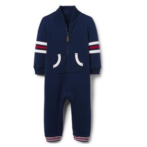 NWT Janie and Jack Sporty Navy outfit with Stripes